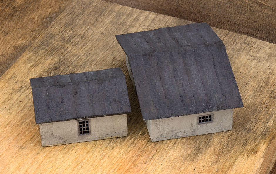 These Roofs Were Sprayed With Dull Cote To Knock The Shine Down A Bit And  To Give Some Tooth To This Rust Weathering. Tarpaper 1