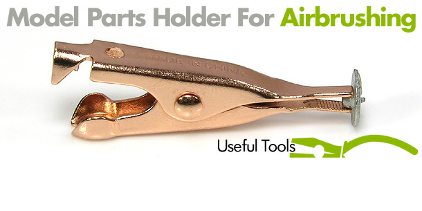 Model Parts Holder For Airbrushing