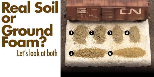 Real Soil or Ground Foam?