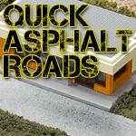 Quick Model Train Asphalt Roads