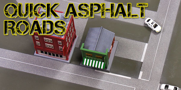 Quick Model Train Asphalt Roads