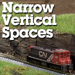 Model Trains Narrow Vertical Spaces