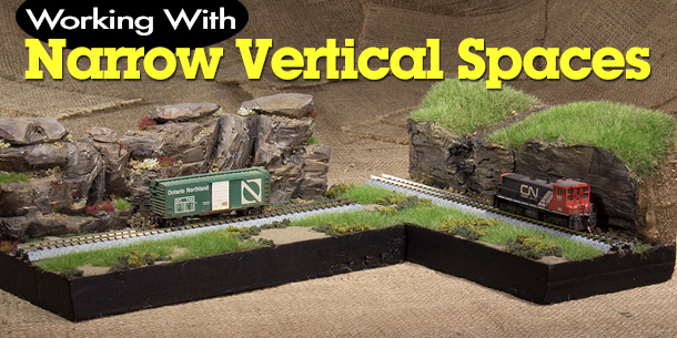 Model Railroad Narrow Vertical Spaces