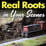 Using Tree and Plant Roots in Model Train Scenery