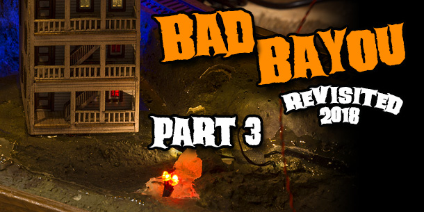Bad Bayou N Scale Halloween Diorama Revisited 2018   Part 3