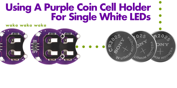 Using A Purple Coin Cell Holder For A Model Train LED