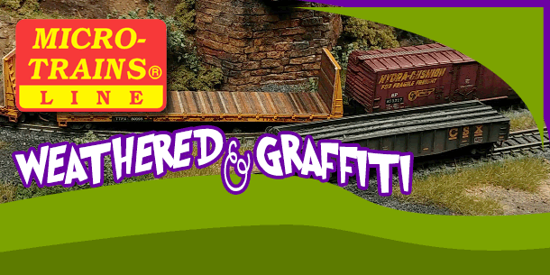 Micro-Trains Line | Z Scale Weathered And Graffiti Rolling Stock