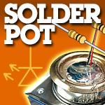 Our new solder pot